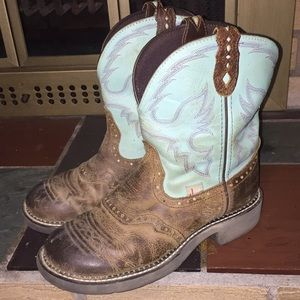 Justin Gypsy Cowboy Brown Boots Size 8